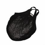 Nákupná taška, sieťovka z biobavlny - čierna